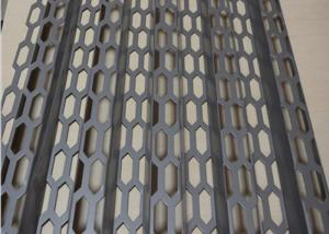 China Hexagonal Bending Architectural Metal Screen High Ventilation Rate For Space Partitioning on sale