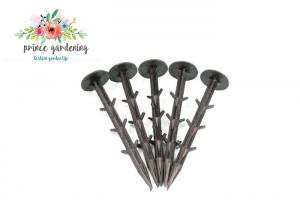 China Plastic Nail Garden Shade Netting Plant Stakes , Watering Spikes For Outdoor Plants on sale