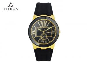China Black Dial Classic Round Face Watch Silica Gel Watch Customized Color on sale