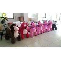 China Hansel  high quality walking animal unicorn motorized plush animal toy mall ride on sale