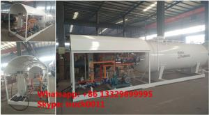 China China 5tons mobile skid lpg gas plant for sale, 2500gallons skid-mounted propane gas refilling station for gas canister on sale