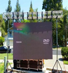 China Full Color Outdoor Led Screen Rental , Led Stage Screen Rental Slim Aluminium Panel on sale