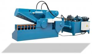 China Scrap Metal Alligator Shearing Machine Car Recycling Movable Blue Color on sale