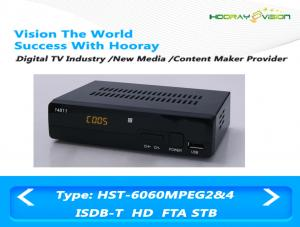 China MPEG 4 AVC H.264 FTA ISDB-T Set Top Box Dvb T2 With PVR USB Media Player on sale