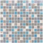 Серое голубое украшение скороговорки смешивания мозаики стекла смеси 20мм