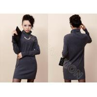 China Fine Knit Autumn Womens Cashmere Sweaters in Turtleneck with Buttons On Shoulder on sale