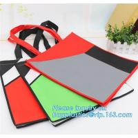 Promotion cheap 1C simple printing yellow shopping non woven bag, Cheap 100% New Recyclable Whole Bag Heat Sealed Machin