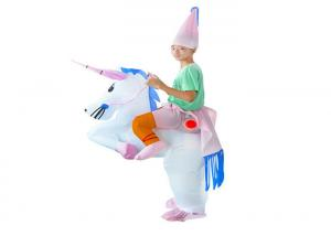 China Polyester 190T Inflatable Kids Toys Inflatable Pink Unicorn Costumes IC-08 on sale