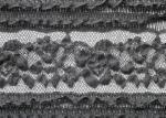 Soft Spandex Black Stretch Wedding Dress Lace Fabric With 130cm Width