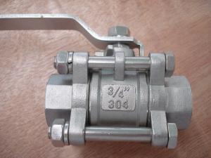 China Válvula de bola 3PC de abertura e de fechamento lisa on sale