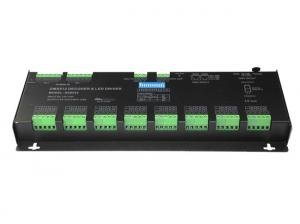China Black LED Strip Light DMX Controller , Constant Votlage RGBW DMX Controller For LED Fixture on sale