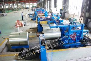 China Hydraulic Steel Coil Slitting Line Full Automatic and PLC Control on sale