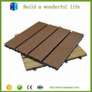 China Waterproof DIY square wpc waterproof interlocking composite decking on sale