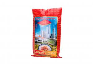 China Bopp Laminated Woven Pp Bags , Multicolor Printed Food Packaging Plastic Weave Bags on sale