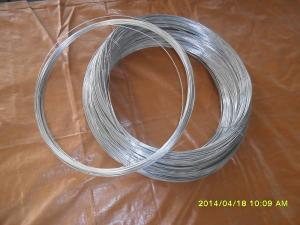 China 21# hot galvanized steel wire on sale
