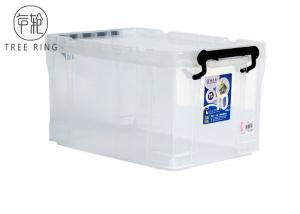 China Lightweight Collapsible Plastic Crate Stackable 700 * 480 * 380mm 100 Litre on sale