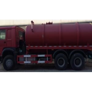 China 15CBM LHD 336HP Sewage Suction Truck , Septic Tank Pumping Truck on sale