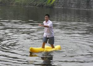 China Walking On Water Inflatable Water Toys Nice Appearance Yellow Shoe Games on sale