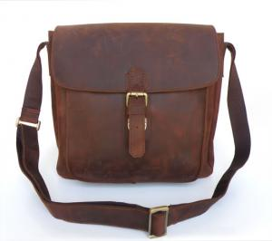 China Men Style Crazy Horse Leather Style Men's Briefcase Messenger Bag #6091 on sale