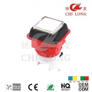 China 27x27mm Double Color Game Push Button For Gaminator Casino Machine Euro Style on sale