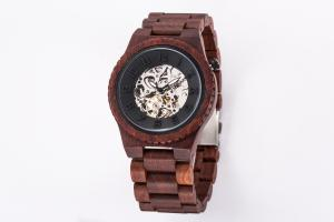 China Water Resistant Wooden Mechanical Watch , Automatic Mechanical Wrist Watch on sale