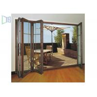 China Clean Contemporary Aluminium Folding Exterior Door With Double Tempered Glass on sale