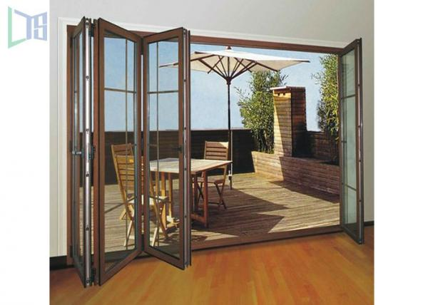 Clean Contemporary Aluminium Folding Exterior Door With Double Tempered  Glass Images