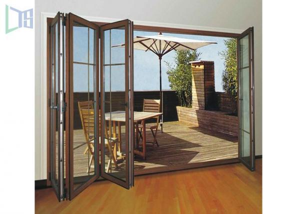 Clean Contemporary Aluminium Folding Exterior Door With Double