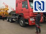 Red Prime Mover Truck HOWO 6 x 4 340HP Tractor Trailer With Wabco System, 10 Wheels, 6 Wheels, LHD/RHD