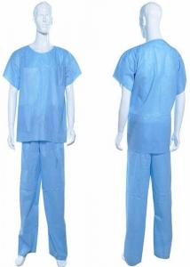 b28124ca1c0 Operating Room Disposable Scrub Suits Round Neck For Nurse / Patient ...