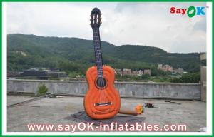 China Oxford Cloth Inflatable Guitar , Music Festival Height 2 Meters on sale