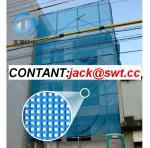 Red revestida de la seguridad del edificio del poliéster del PVC