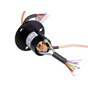 China High Frequency Rotary Slip Ring 12 Circuits Transmitting Data Analog Signal Up To 40GHz on sale