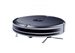 China App Control Automatic Floor Cleaner Robot , Black Robot Vacuum For Pet Hair on sale