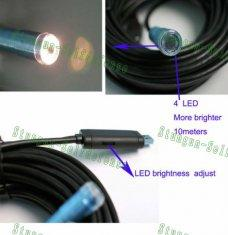 Quality 5M Waterproof USB Wire Snake Inspection Camera with 4 LED E-03 for sale
