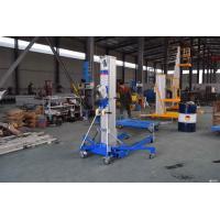 6000mm Blue Color Manual Material Lift LGA - 20 Portable Aluminium Cylinder Type