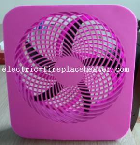 China Pink Lightweight Square Electric Fan Battery Operated Cooling Fan With Handle on sale