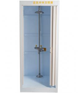 China PP Anti-corrosion emergency shower room , eyewash Room Eyewash machine stainless steel Emergency body shower Room on sale