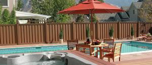 China Waterproof Outdoor WPC Fence Panels With Anti - UV / Anti - Oxidation Chemical Additives on sale