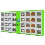 La calle/la universidad/el aeropuerto automatizaron las máquinas expendedoras del armario de la comida del refrigerador con diversas puertas del tamaño