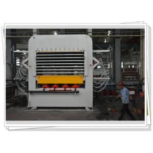 China Multi layer Melamine Veneer Hot Press Machine Laminates With Dual Cycle on sale