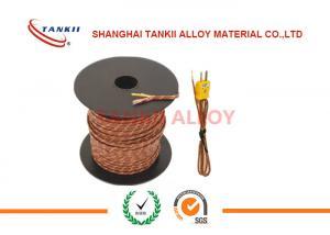 China Cable de termopar con el aislamiento de la fibra de cerámica, fibra de vidrio da alta temperatura 800 DEG C 1200 DEG C on sale
