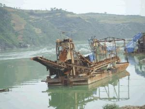 China chain bucket placer gold dredging equipment on sale