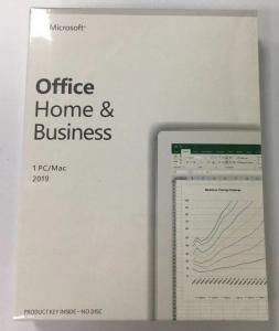 China Retail Package Microsoft Office 2019 Home and Business for Windows online activation on sale