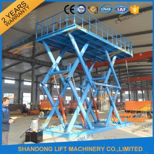 China CE 5T Heavy Duty Warehouse Stationary Hydraulic Scissor Lift 5M Max Lifting Height on sale