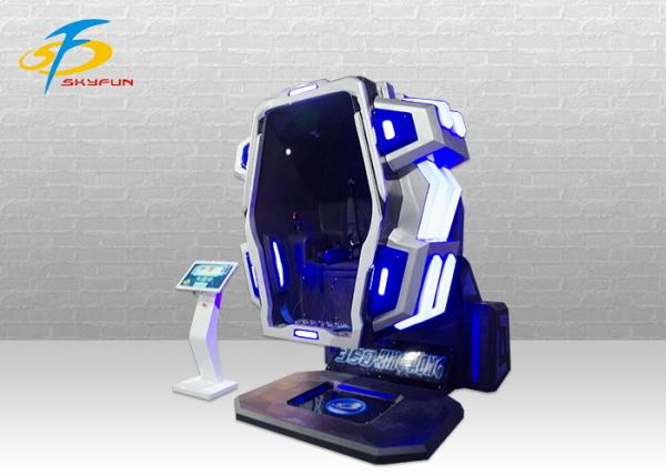 Theme Park Virtual Reality Equipment / Blue And Red 360 VR Chair for