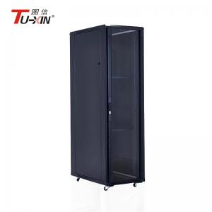 China Universal Computer Server Rack 5mm Tempered Glass Door Bearing Capacity 800kg on sale