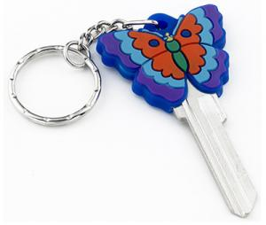China Fashion Custom House Key Blanks 3D Butterfly Shaped In KW10 And SC1 Profiles supplier