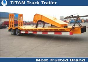 China SKD type low bed trailer truck with 2 axles , gooseneck lowboy trailers on sale
