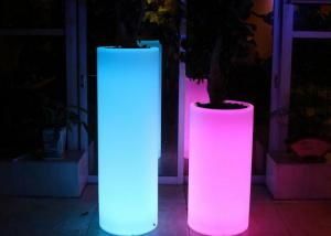 China Customized Plastic Wedding Decorative Pillar Led Lighted Flower Pots ROHS on sale